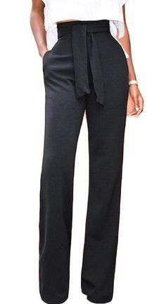 Tootlessly-Women High Waist Denim Pants Super Wide Flared Leg Trousers