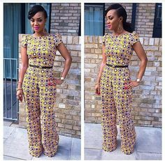 Jumpsuit #africanprint African Girls Killing It Latest African Fashion, African Prints, African fashion styles, African clothing, Nigerian style, Ghanaian fashion, African women dresses, African Bags, African shoes, Nigerian fashion, Ankara, Aso okè, Kenté, brocade etc DK