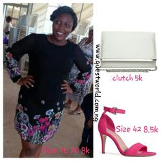 Colour your wardrobe! www.questworld.com.ng Nationwide Delivery from 24hrs! #dress #Clutch #heels #Valentine