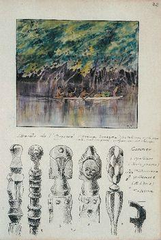 """""""Le Gabon"""" de Fernand Grébert es 360 pages illustrée de plus de 1500 dessins originaux à la peinture, à la plume et au crayon, traitent de manière approfondie de la population, de la culture, de la flore et de la faune du pays «pahouin»."""
