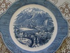 Vintage/Collectible Currier and Ives Plate by THEVERMONTSHOP, $10.00