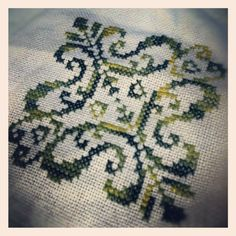 First side of Biscornu is done! #crossstitch #biscornu