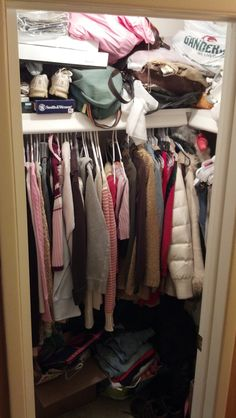 Charming Cluttered Closet