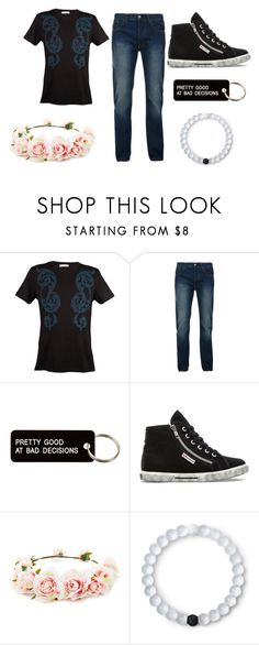 """""""Kaine"""" by freakshowchick on Polyvore featuring Versace, Bellfield, Various Projects, Superga, Forever 21, Lokai, men's fashion and menswear"""
