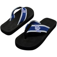 #FanaticsSummerWishList    Kentucky Wildcats Unisex Basic Flip Flops - Black-Royal Blue