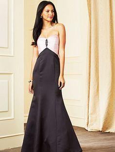 Strapless elegant bridesmaid dress by Alfred Angelo, Style 7282L