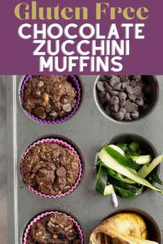 These Gluten Free Chocolate Zucchini Muffins are made with chickpea flour and naturally sweetened with bananas. Chocolate chickpea banana muffins are great as baby muffins, toddler muffins, or a high… More