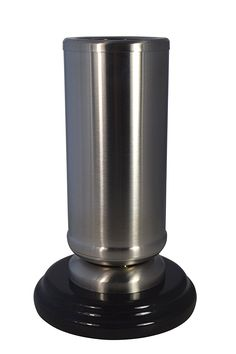 Paul Jansen Stainless Steel Vase, Silver/Black, 25.5x 10x 10cm 0845GS -- Click image to read more details. #GardenDecor