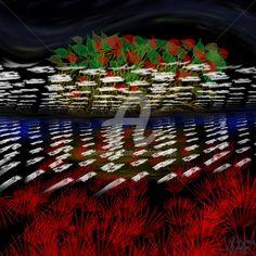 Herbstnacht (Digitale Künste),  50x50x50 cm von Manfred Hoppe