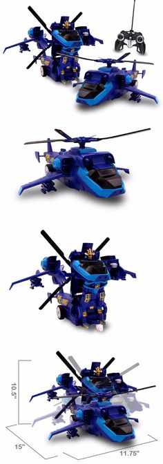 Remote-Controlled Toys 84912: Rc Car Transforming Robot Warrior Remote Control Helicopter 1 14 Scale (Blue) -> BUY IT NOW ONLY: $44.99 on eBay!