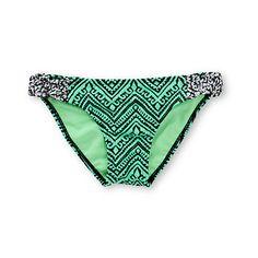 a7b2b62a839a8 Empyre Zig Zag Tribal Mint Tab Side Bikini Bottom | #swimsuit #zumiez Beach  Bunny