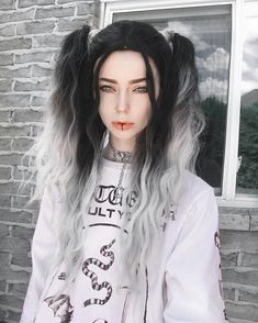 50 Emo Hairstyles for Girls - Black Haircut Styles Goth Hair, Grunge Hair, Black Haircut Styles, Long Hair Styles, Ombre Hair, Teal Hair, Hair Inspo, Hair Inspiration, Pretty Hairstyles