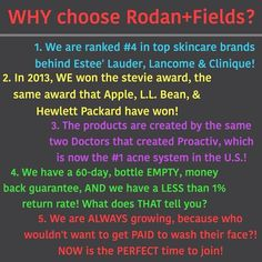 Why join Rodan+Fields? Hey, listen I never thought I would be into network marketing, but this job is perfect for moms that want to work, but still want to make it to kids school events and be there when they get off the bus. The doctors really went outside the box on this one!