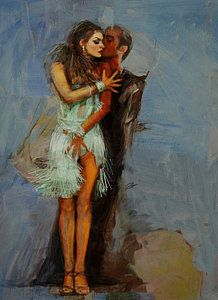 Tango Dancers Painting - Spanish Culture 13 by Corporate Art Task Force