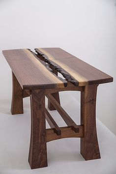Lilly Coffee Table by Joshua Miller: Wood Coffee Table - wood slabs available at http://www.BerkshireProducts.com