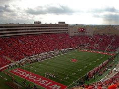 Wisconsin Badgers Game at Camp Randall Stadium, Madison, Wisconsin