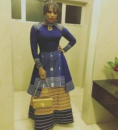 Beautiful Xhosa Umbhaco Inspired Dress | Clipkulture | Clipkulture