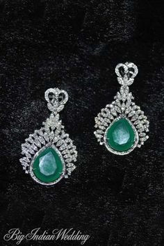 Amaris Jewels emerald and diamond earring