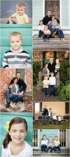 Rustic Wall Portrait Session, Family of Five Posing, Holiday Session, What to Wear – Holly Davis Photography The Woodlands, TX