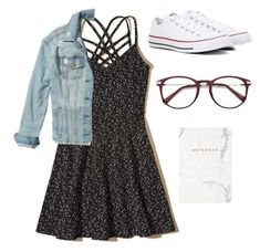 """""""Untitled #235"""" by brodriguez8104 ❤ liked on Polyvore featuring Hollister Co., Converse and EyeBuyDirect.com"""