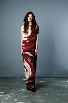 Red Paint Easy Dress - Draw In Light