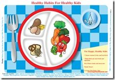 printable placemat...other nutrition ideas