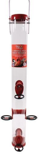 Droll Yankees Inc-Wild Delight Cardinal Plus Feeder- Red 23 Inch