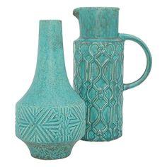 Delia Vessel 26cm Turquoise