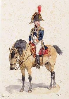 Generaal van de Generale staf van de Garde, gekleed in de grote tenue