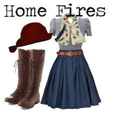 // home fires inspired Casual Summer Outfits, Outfits For Teens, Cute Outfits, 1940s Fashion, Vintage Fashion, Edwardian Fashion, Vintage Inspired Outfits, Vintage Outfits, 1940s Outfits