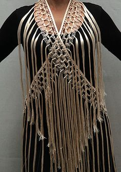 Flamenco, Mantoncillo de flecos artesanal - Beige, Mantoncillo/Shawl