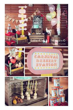 Vintage Carnival Birthday Party Planning Ideas Supplies Idea Decor