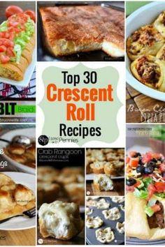 """""""Top 30 Crescent Roll Recipes"""" I do love crescent rolls. Recipes Using Crescent Rolls, Crescent Roll Recipes, Cresent Roll Appetizers, Cresent Rolls, Fall Appetizers, Appetizer Dinner, Appetizer Recipes, Pillsbury Recipes, Pillsbury Rolls"""