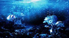Underwater meeting by Thomas Majevsky, via Behance