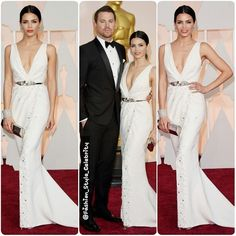 FASHION FROM THE #ACADEMYAWARDS2015 #ChanningTatum is #wearing a #DolceandGabbana #tuxedo , #LouisLeeman #shoes, and #NeilLane #studs and #cufflinks. #JennaDewan is wearing a #ZuhairMurad #Couture #dress, #StuartWeitzman #shoes, #LorraineSchwartz #jewels, and #LeeSavage #bag.#Fashion #Style #Celebrity #Oscar2015... - Celebrity Fashion