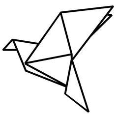 Origami Birds Vinyl Wall Decal by RadRaspberry on Etsy