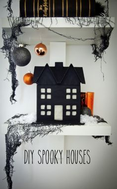 boxwood clipping_diy halloween houses