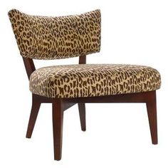 Leopard accent chair.