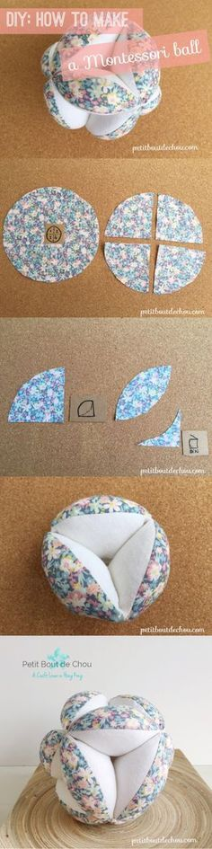 Learn how to create a lovely and useful baby Montessori ball in this step by step sewing tutorial with useful tips. A must-try!