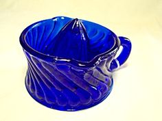 Cobalt Blue Glass Juice Reamer