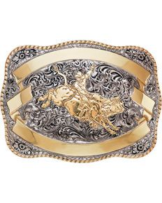 Crumrine Mens Silver and Gold Team Roper Belt Buckle , Silver Nocona Belt, Cowboy Belt Buckles, Western Belts, Western Wear, Bull Riders, Cowgirl Bling, Wallets For Women Leather, Silver Man, Silver Rings