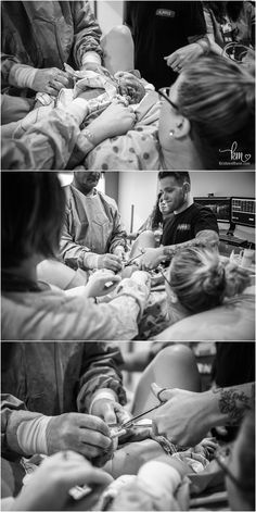 cutting the cord - Indianapolis birth photography by KristeenMarie
