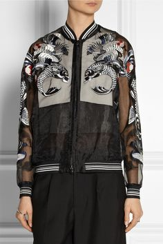 3.1 Phillip Lim Tattoo-embroidered organza jacket *Front view
