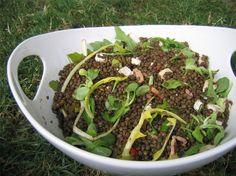 Salade de lentilles, roquette et chèvre : la recette facile