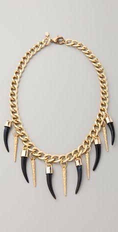 Fallon Jewelry Bijan Long Horn Necklace