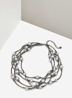 Collar milvueltas de perlas - AD MUJER | Adolfo Dominguez shop online