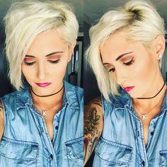 Pixie pixie hair platinum pixie blonde pixie short hair younique makeup raya Coleman rayahope