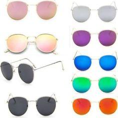 a moderno hombre mujer vintage gafas de sol redondas bonito retro grande  espejo Gafas De Sol 9732cce3d8cf