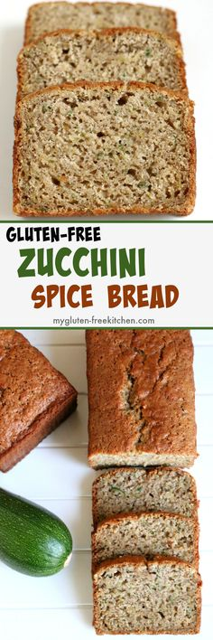 Gluten-free Zucchini Spice Bread Recipe. Makes two loaves so you can freeze or gift one!