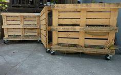 Mobile vertical pallet planter train :-)